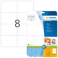 Herma 5062 fehér színű öntapadós etikett címke