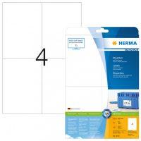 Herma 5063 fehér színű öntapadós etikett címke