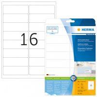 Herma 5075 fehér színű öntapadós etikett címke