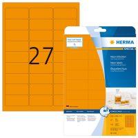 Herma 5141 neon narancssárga színű öntapadó etikett címke