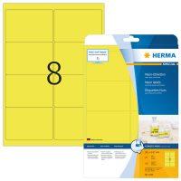 Herma 5144 neon sárga színű öntapadó etikett címke