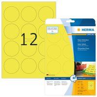 Herma 5152 neon sárga színű öntapadó etikett címke
