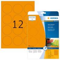 Herma 5153 neon narancssárga színű öntapadó etikett címke
