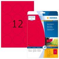 Herma 5156 neon piros színű öntapadó etikett címke