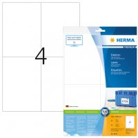 Herma 8630 fehér színű öntapadós etikett címke