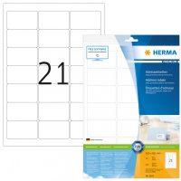 Herma 8632 fehér színű öntapadós etikett címke