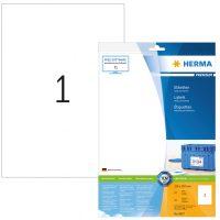 Herma 8637 fehér színű öntapadós etikett címke