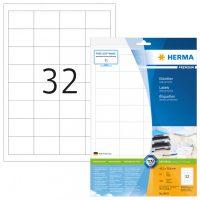 Herma 8643 fehér színű öntapadós etikett címke