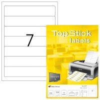 TopStick 8721 öntapadós etikett címke