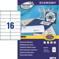 europe100 ELA035 öntapadó etikett címke