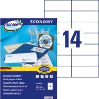 europe100 ELA038 öntapadó etikett címke