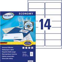 europe100 ELA042 öntapadó etikett címke