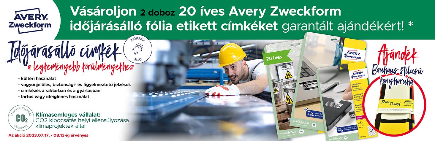 Garantált ajándék már 3.000 forint feletti Avery Zweckform termék vásárlása esetén.